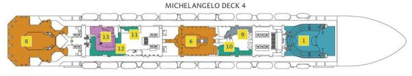Costa Magica - Deck 4 Michelangelo