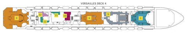 Costa Favolosa - Deck 4 Versailles