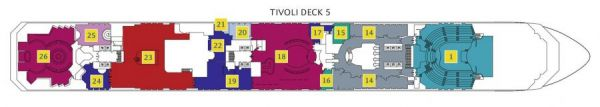 Costa Favolosa - Deck 5 Tivoli