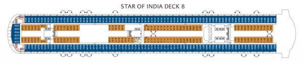 Costa Diadema - Deck 8 Star of India