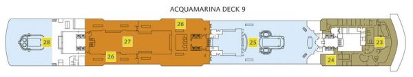 Costa Luminosa - Deck 9 Acquamarina