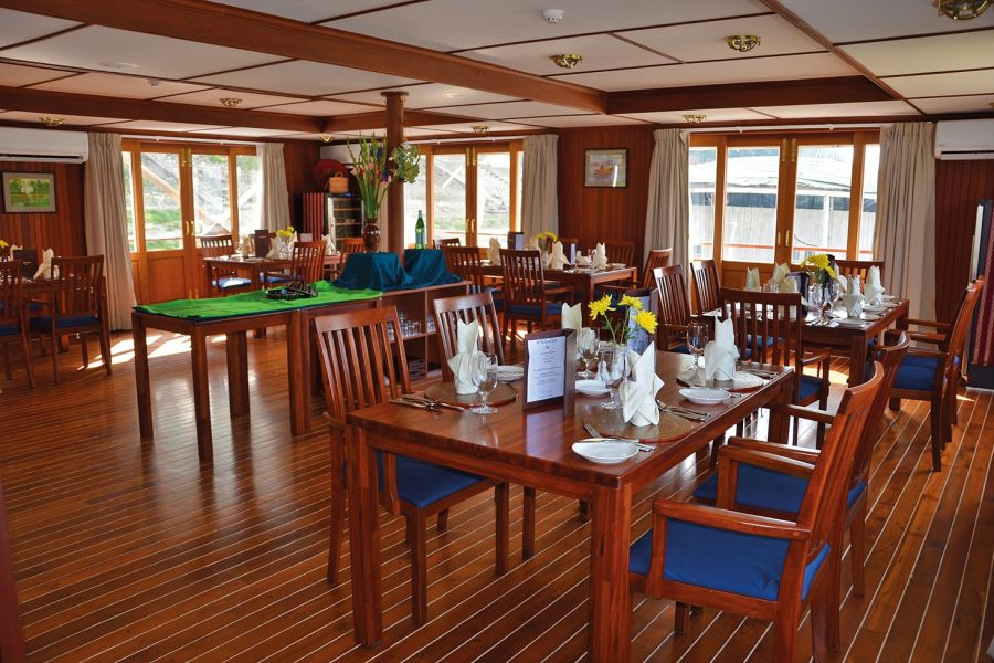Restaurant MS Thurgau Exotic II © nicko cruises